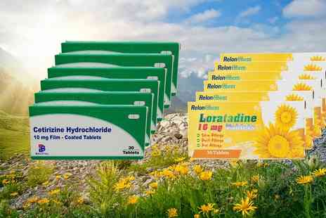 Chemist 4 U - Loratadine or Cetirizine Six Month Supply Allergy and Hay Fever Tablets - Save 0%