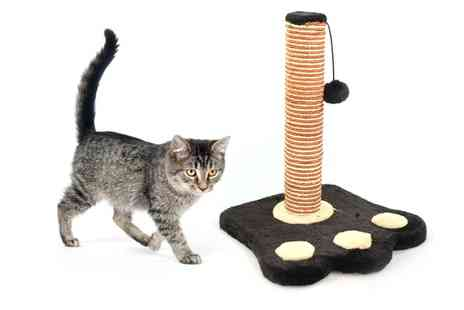 Groupon Goods Global GmbH - Paw Print Cat Scratching Post 40cm - Save 0%