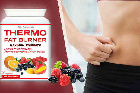 Slim Pharma Labs - 60 Capsules of 1 Months Supply of Thermo Fat Burner - Save 69%