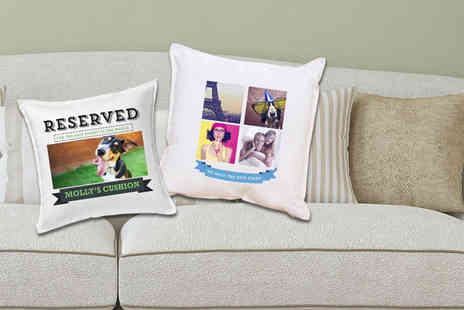 Prints With Feelings - Personalised photo cushion cover - Save 71%