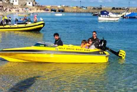 St Ives Boat Rides - Self Drive Motorboat Hire For Up to Six or Fast Rib Ride for Up to Twelve  - Save 50%