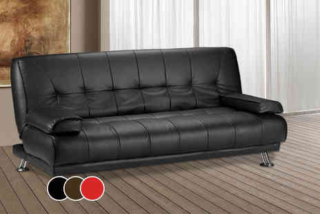 Limitless Base -  Venice faux leather sofa bed  - Save 66%