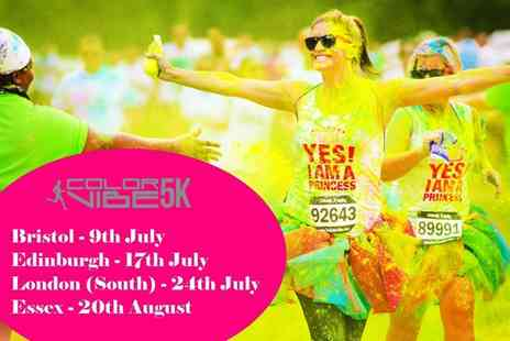 Color Vibe 5K Run 2016 - Color Vibe 5K Run Adult Entry with Optional Colour Pack, Choice of Date and Location - Save 50%