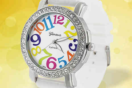 Bentleys Bargain Warehouse - Womens White Silicone Watch - Save 0%
