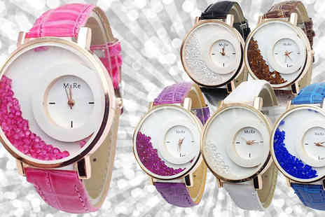 Gagala - Floating Crystal Watch Made With Swarovski Elements 6 Colours - Save 0%