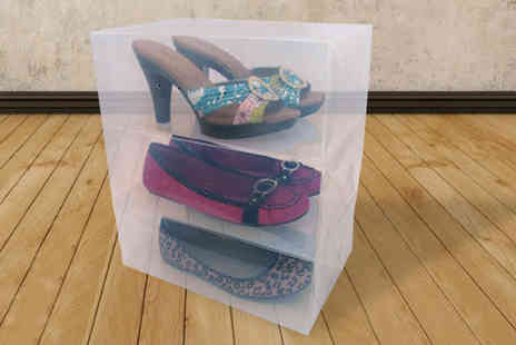 Megastore 247 - Shoe Storage Boxes 5 or 10 - Save 0%