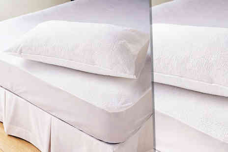 E4Emporium - Single terry towelling mattress protector - Save 56%