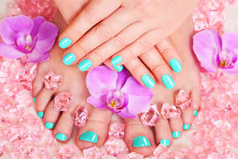 Temi T Beauty Salon - Shellac manicure or shellac manicure and pedicure - Save 60%