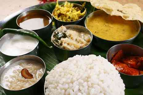 Aamaya - Indian Thali Meal for Two or Four - Save 50%