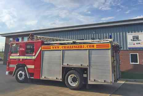 Challenger - Dennis V8 Fire Engine Driving or Passenger Ride 1950s Classic Fire Engine Passenger ride - Save 34%