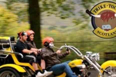 Trike Tours Scotland - Trike Tour of Loch Lomond or Edinburgh For Two With Photo Shoot, Whisky and Shortbread - Save 57%