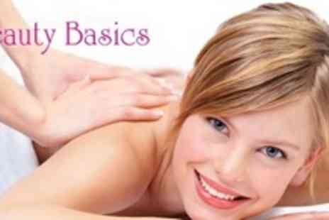 Beauty Basics - Back, Neck, and Shoulder Massage Plus Signature Mini Facial For Two - Save 57%