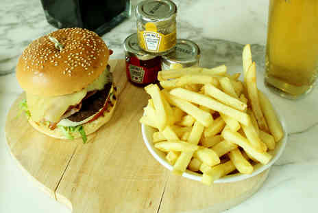 Hilton Manchester Deansgate - Delicious burger meal for two with a beer each - Save 51%