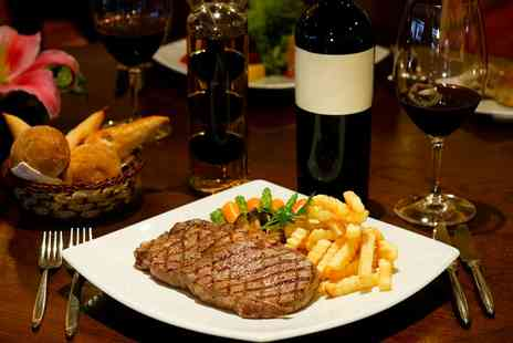 Clarence Villa - Steak and Bottle of Wine for Two - Save 36%