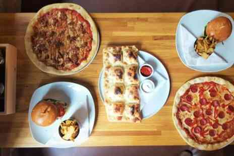 Slate NQ - Choice of Sharing Board with Large Pizza or Burger for Two or Four - Save 52%