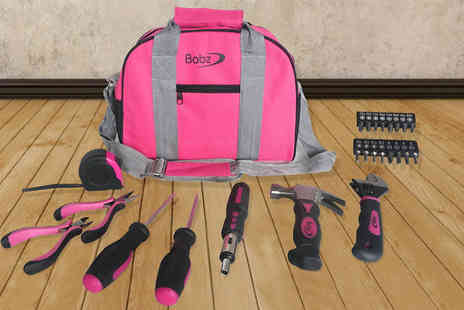 Megastore 247 - 25 Piece Pink Tool Bag Kit - Save 0%