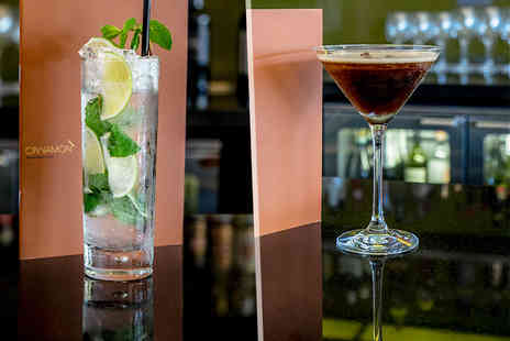 Hilton Canary Wharf - Four cocktails for two to share  - Save 52%