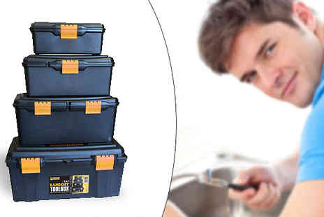 Megastore 247 - Four Piece Plastic Tool Box Set - Save 0%