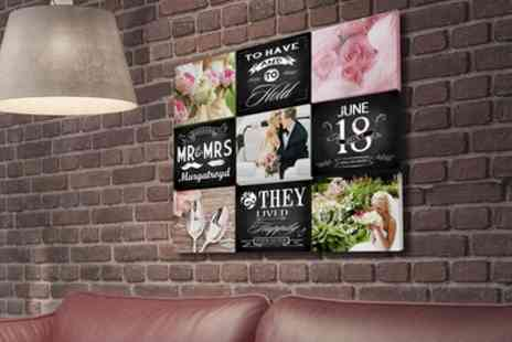You Frame UK - Personalised Nine Tile Wedding Story Board Canvas - Save 71%