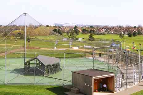 Playgolf - 75 Balls or One Hour of Unlimited Balls in a Batting Cage - Save 46%