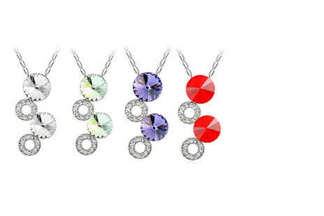 Van Amstel Diamond BV - Moon pendant made with Swarovski Elements choose from white, red, purple and green - Save 79%