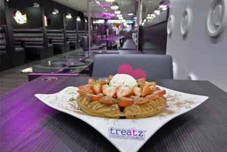 Treatz Southampton - Waffle, Crepe or Cookie Dough with Ice Cream and Hot Drink for Up to Four - Save 37%