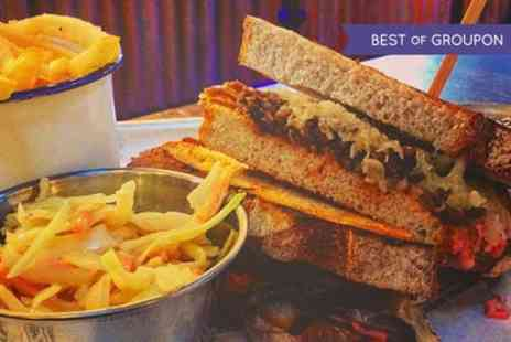 Saint Lukes - Burger or Sandwich with a Choice of Side and Beer or Wine for Two or Four - Save 60%