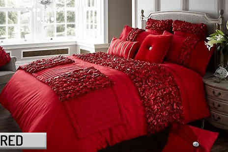 luxury bed and warehouse - Verina Duvet Set Four Sizes andi Five Colours - Save 54%