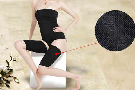 Last Chance Supplies - Set of Two Contouring Compression Thigh Wraps - Save 73%