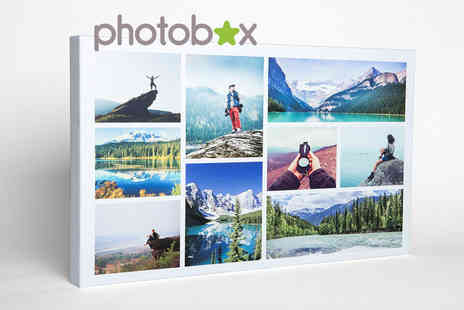 Photobox - Personalised photo collage canvas choose from three sizes - Save 55%