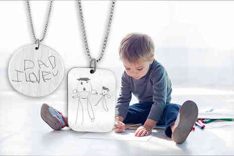 Cian Jewels - Personalised drawing necklace - Save 78%