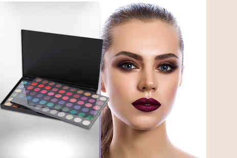 SalonBoxed - 120 colour bright eyeshadow palette with 10 brushes - Save 86%