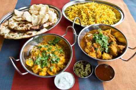 Masala - Two Course Indian Meal with Rice, Naan or Fries for Two or Four - Save 0%