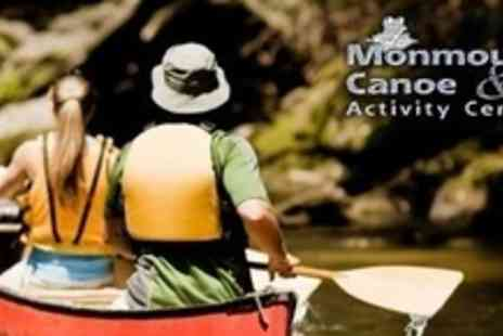Monmouth Canoe & Activity Centre - Full Day Canoe Trip on the River Wye For Four - Save 58%