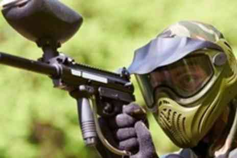 Amazon Outdoor Events - Paintballing Experience For Two With BBQ and Drinks Plus 100 Balls - Save 88%