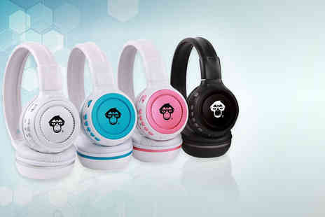 Chimp Electronics - Pair of twistable Bluetooth headphones choose from four colours - Save 88%
