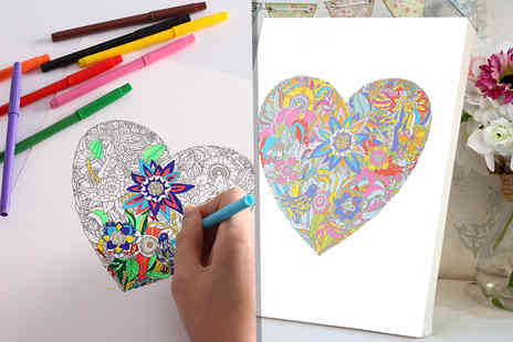 "You Frame International - 12"" x 12"" colouring in canvas - Save 77%"