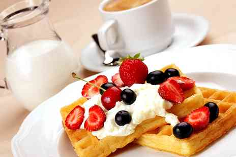 Sugar Rush Desserts - Waffle or Crepe with Hot Drink for Up to Six - Save 47%
