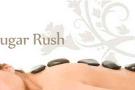 Sugar Rush - Hot Stone Back, Neck and Shoulder Massage Plus Indian Head Massage - Save 62%
