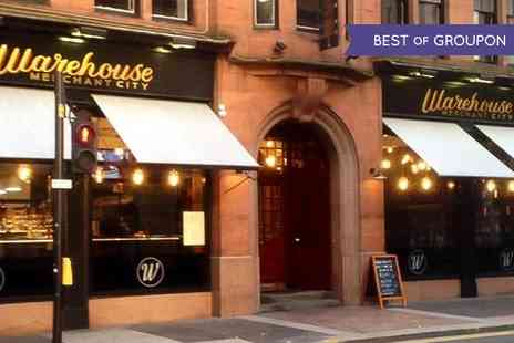 Warehouse Merchant City - Two Course Meal for Two or Four - Save 47%