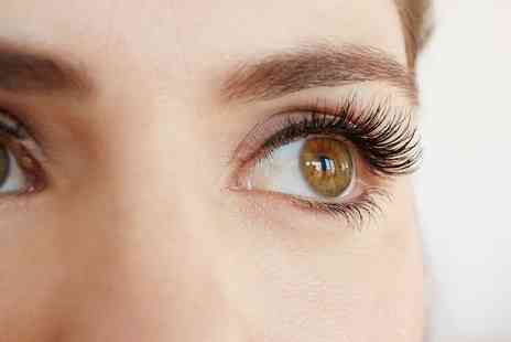 Glam Laser Clinic - Half or Full Set of Eyelash Extensions with Optional Eyebrow Tint and Shape - Save 38%
