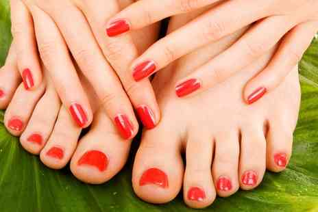 Spritz-Me - Shellac Manicure, Pedicure or Both at Spritz-Me - Save 0%