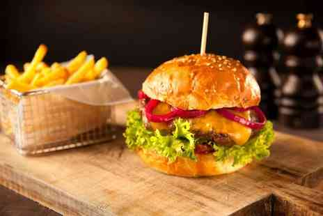 Wheatacre White Lion - Burger, Fries and Wine or Beer for Two or Four - Save 37%