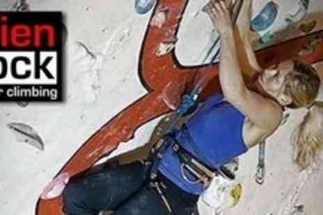 Alien Rock - Three Hour Beginners Climbing Course Plus Two Weeks of Climbing For Two - Save 64%