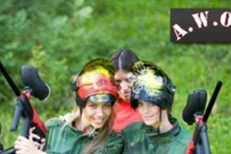 AWOL Adventure - Three Hour Paintball Experience For One With 100 Paintballs Each - Save 70%