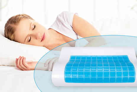 Gagala - All Seasons CoolGel Memory Foam Pillow with Cover - Save 0%