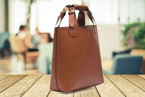 Funky Monkey Gift Shop - Faux Leather Tote Shopper Bag - Save 67%