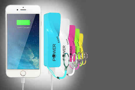 ClickWrap - Twisted Powerbank smartphone charger choose from six colours - Save 83%