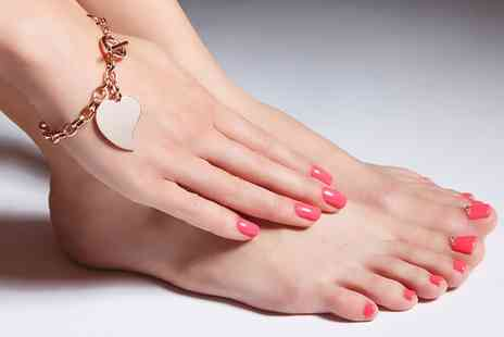 Crystal Hair & Beauty - Shellac Manicure or Pedicure or Both - Save 29%