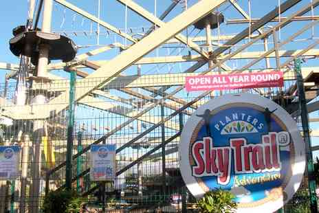 Planters Garden Centre - Sky Trail High Ropes Session for Two or Four - Save 43%